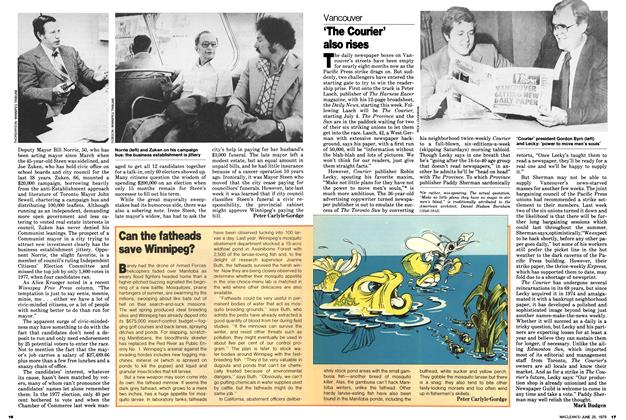 Article Preview: 'The Courier' also rises, June 1979 | Maclean's