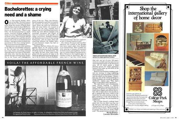Article Preview: Bachelorettes: a crying need and a shame, June 1979 | Maclean's