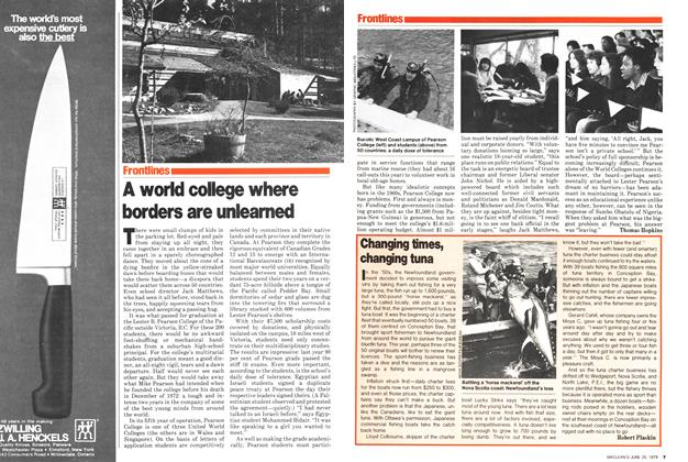 Article Preview: A world college where borders are unlearned, June 1979 | Maclean's