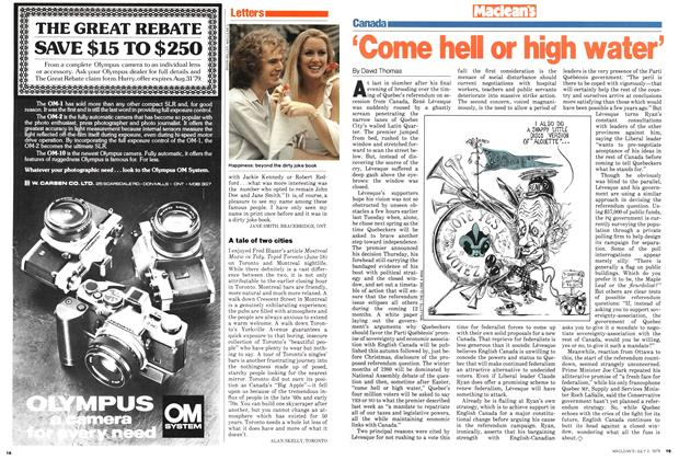 Article Preview: 'Come hell or high water', July 1979 | Maclean's