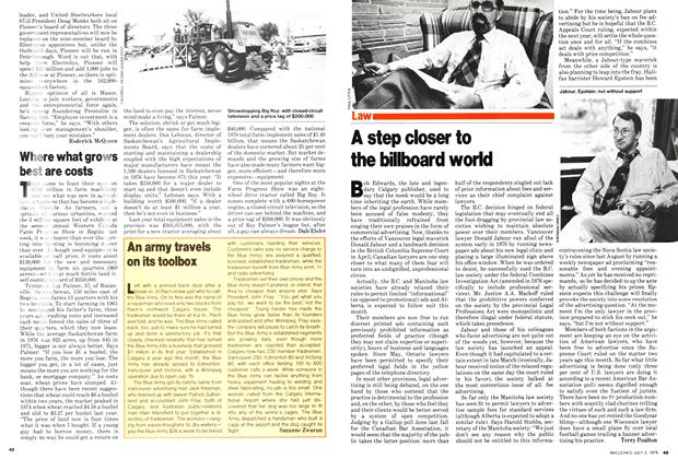 Article Preview: Where what grows best are costs, July 1979 | Maclean's