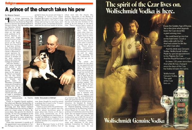 Article Preview: A prince of the church takes his pew, July 1979 | Maclean's
