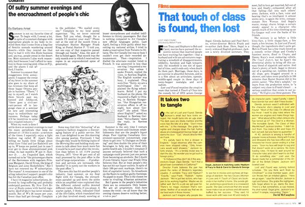 Article Preview: That touch of class is found, then lost, July 1979 | Maclean's