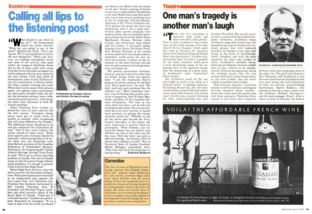 Article Preview: One man's tragedy is another man's laugh, July 1979 | Maclean's