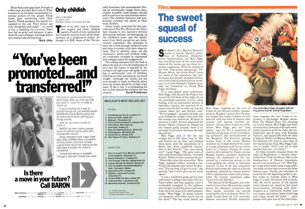 Article Preview: The sweet squeal of success, July 1979 | Maclean's