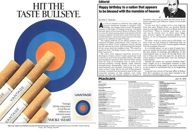 Article Preview: Happy birthday to a nation that appears to be blessed with the mandate of heaven, July 1979 | Maclean's