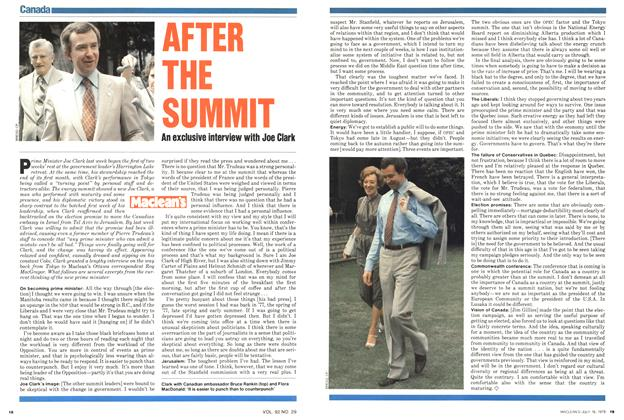 Article Preview: AFTER THE SUMMIT, July 1979 | Maclean's