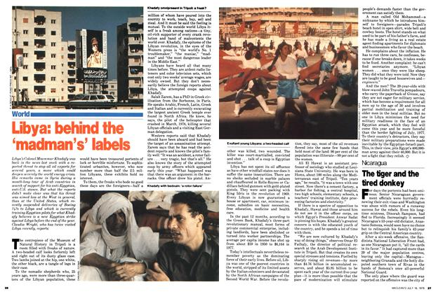 Article Preview: Libya: behind the 'madman's' labels, July 1979 | Maclean's