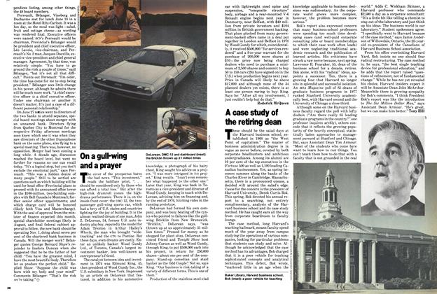 Article Preview: On a gull-wing and a prayer, July 1979 | Maclean's