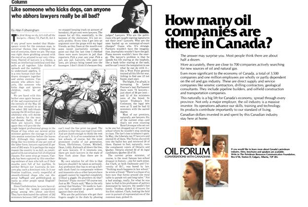 Article Preview: Like someone who kicks dogs, can anyone who abhors lawyers really be all bad?, July 1979 | Maclean's