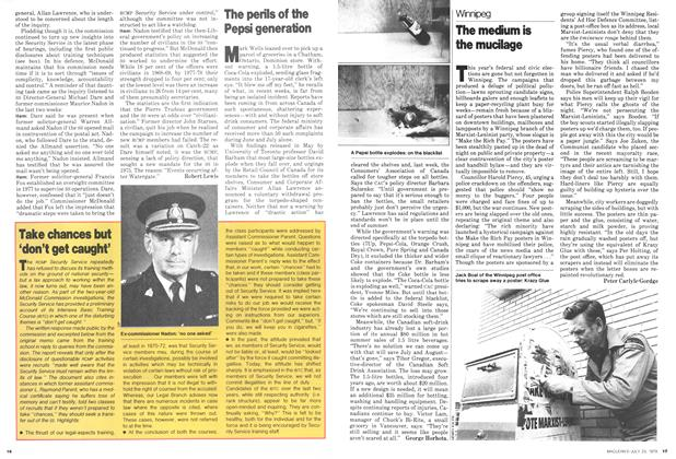 Article Preview: The perils of the Pepsi generation, July 1979 | Maclean's