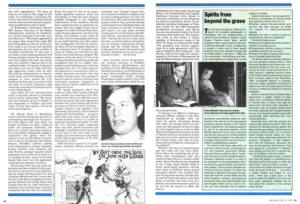 Article Preview: Spirits from beyond the grave, July 1979 | Maclean's