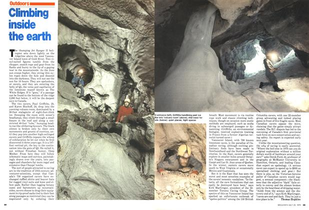 Article Preview: Climbing inside the earth, July 1979 | Maclean's