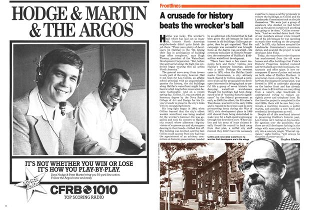 Article Preview: A crusade for history beats the wrecker's ball, July 1979 | Maclean's