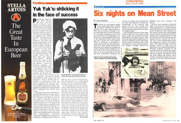 Article Preview: Six nights on Mean Street, July 1979 | Maclean's
