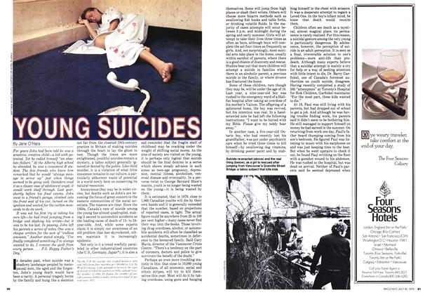 Article Preview: YOUNG SUICIDES, July 1979 | Maclean's