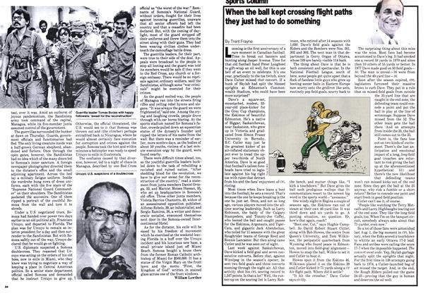 Article Preview: When the ball kept crossing flight paths they just had to do something, July 1979 | Maclean's