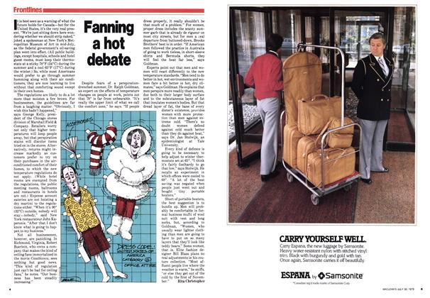 Article Preview: Fanning a hot debate, July 1979 | Maclean's