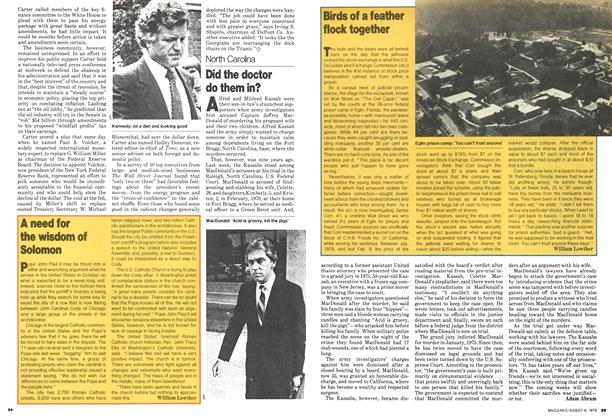 Article Preview: Birds of a feather flock together, August 1979 | Maclean's