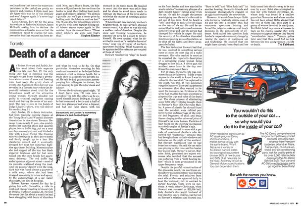 Article Preview: Death of a dancer, August 1979 | Maclean's