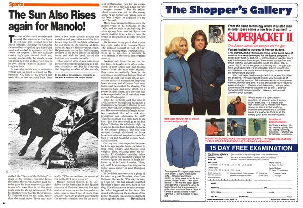 Article Preview: The Sun Also Rises again for Manolo!, August 1979   Maclean's