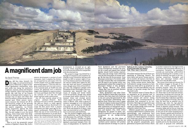 Article Preview: A magnificent dam job, August 1979 | Maclean's