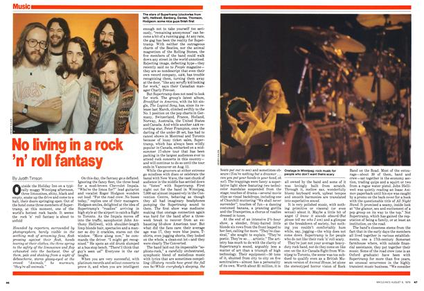 Article Preview: No living in a rock 'n' roll fantasy, August 1979 | Maclean's