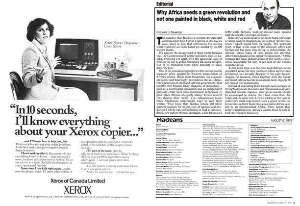 Article Preview: Why Africa needs a green revolution and not one painted in black, white and red, August 1979 | Maclean's