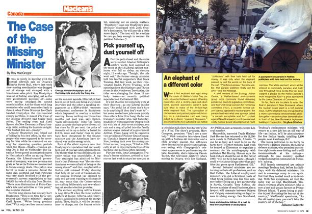 Article Preview: The Case of the Missing Minister, August 1979 | Maclean's