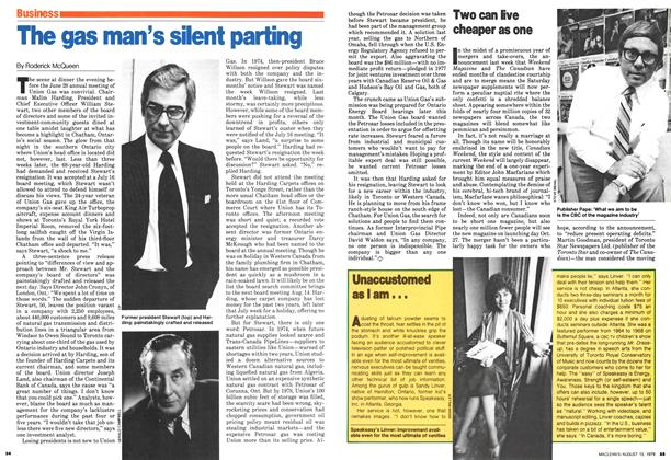 Article Preview: The gas man's silent parting, August 1979 | Maclean's
