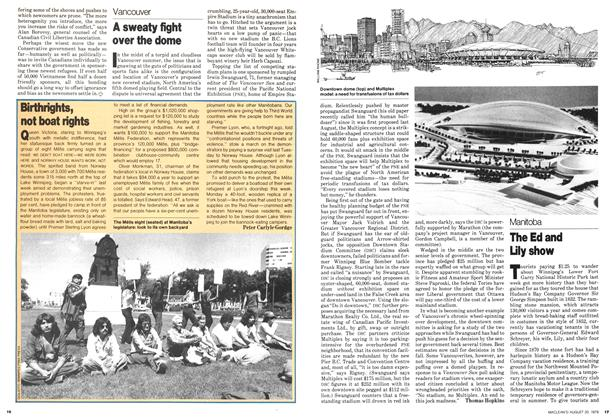 Article Preview: A sweaty fight over the dome, August 1979 | Maclean's