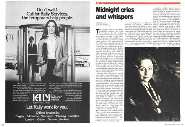 Article Preview: Midnight cries and whispers, August 1979 | Maclean's