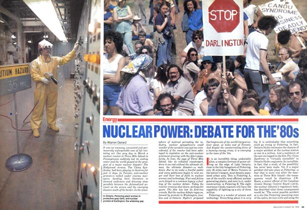 Article Preview: NUCLEAR POWER: DEBATE FOR THE'80s, August 1979 | Maclean's
