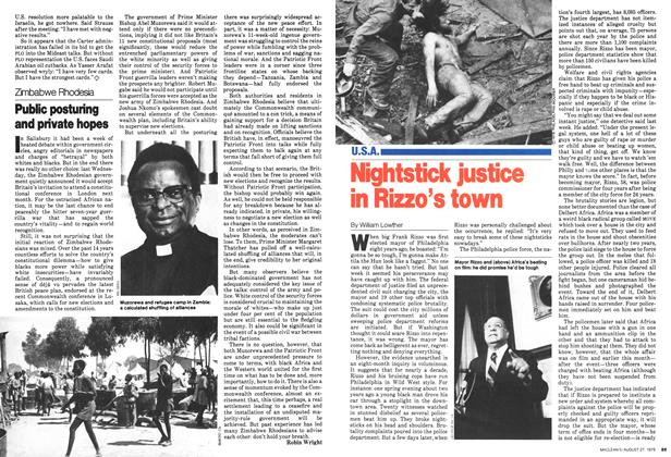 Article Preview: Public posturing and private hopes, August 1979 | Maclean's