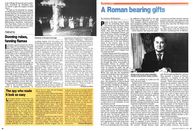 Article Preview: A Roman bearing gifts, August 1979 | Maclean's