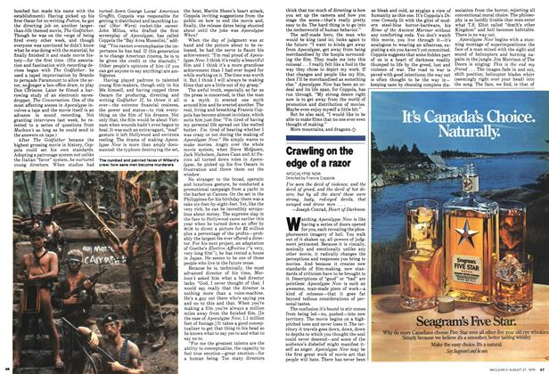 Article Preview: Crawling on the edge of a razor, August 1979 | Maclean's