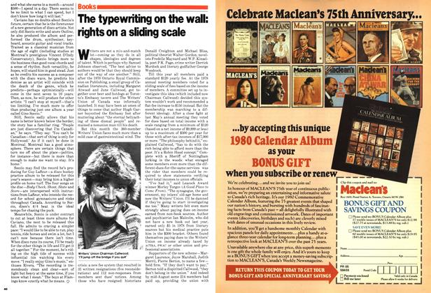 Article Preview: The typewriting on the wall: rights on a sliding scale, August 1979 | Maclean's