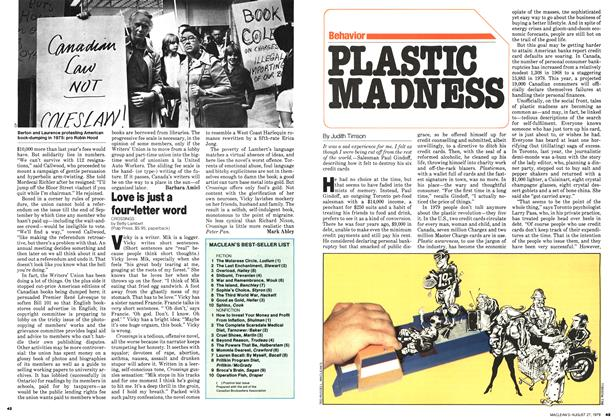 Article Preview: PLASTIC MADNESS, August 1979 | Maclean's