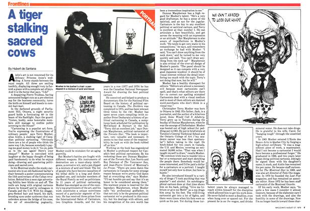 Article Preview: A tiger stalking sacred cows, August 1979 | Maclean's