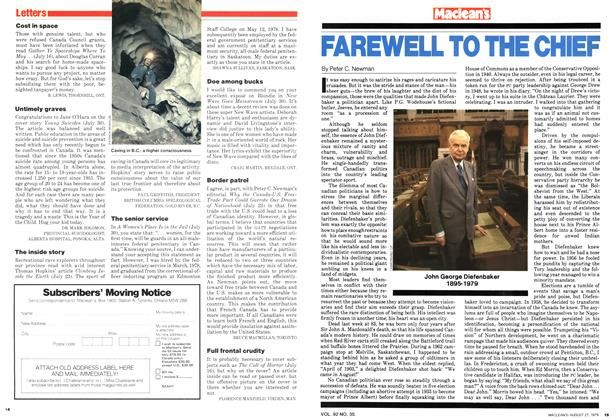 Article Preview: FAREWELL TO THE CHIEF, August 1979 | Maclean's