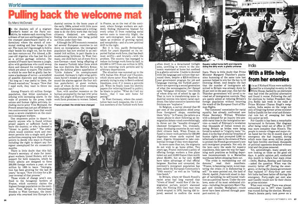 Article Preview: Pulling back the welcome mat, September 1979 | Maclean's