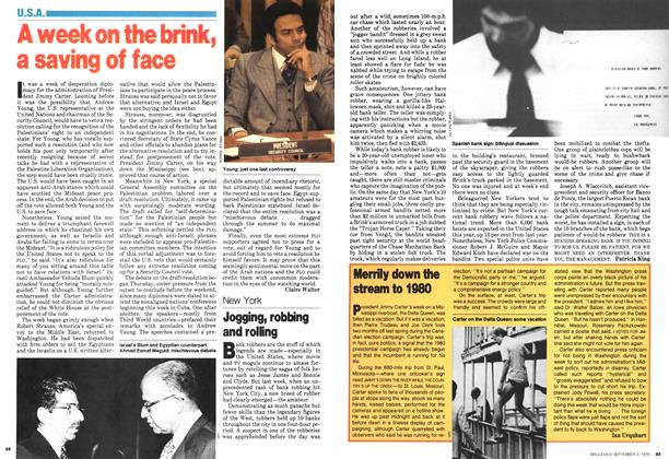 Article Preview: Merrily down the stream to 1980, September 1979 | Maclean's