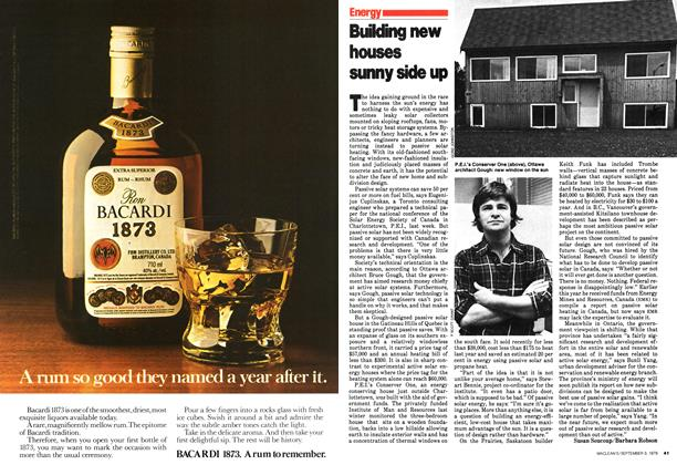 Article Preview: Building new houses sunny side up, September 1979   Maclean's