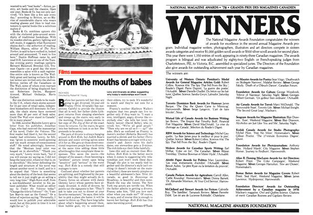 Article Preview: From the mouths of babes, September 1979 | Maclean's
