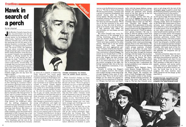 Article Preview: Hawk in search of a perch, September 1979 | Maclean's