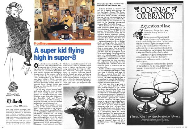 Article Preview: A super kid flying high in super-8, September 1979 | Maclean's