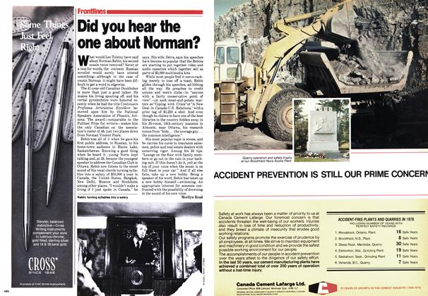 Article Preview: Did you hear the one about Norman?, September 1979 | Maclean's