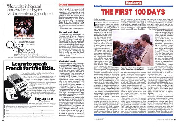 Article Preview: THE FIRST 100 DAYS, September 1979   Maclean's