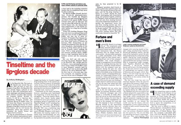 Article Preview: Tinseltime and the lip-gloss decade, September 1979 | Maclean's