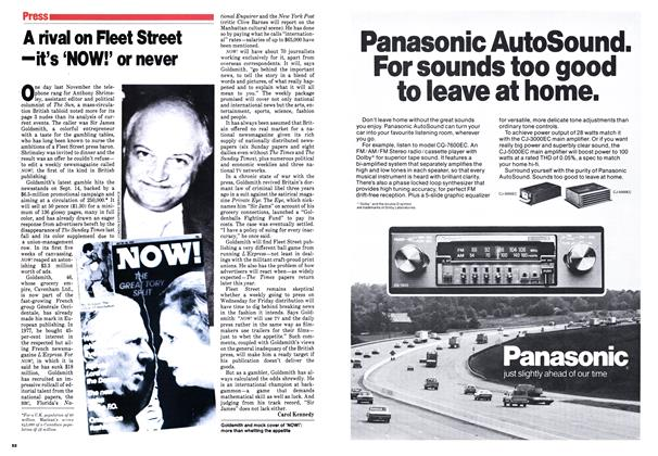 Article Preview: A rival on Fleet Street -it's 'NOW!' or never, September 1979   Maclean's